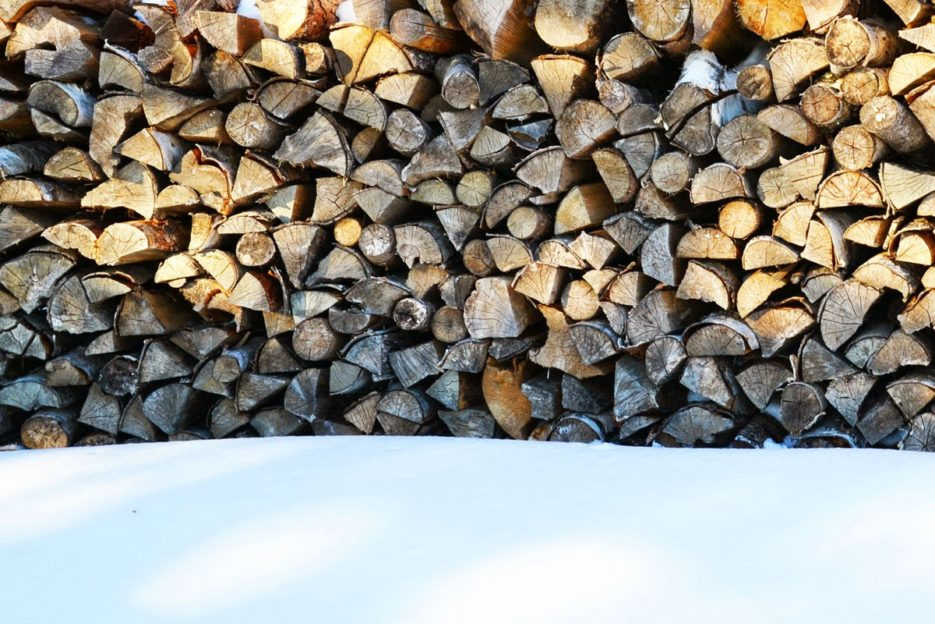 Firewood at the Waxriegelhaus, Viennese Alps, Austria