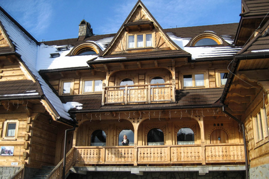 A wooden architecture of the Podhale region, Zakopane, Poland