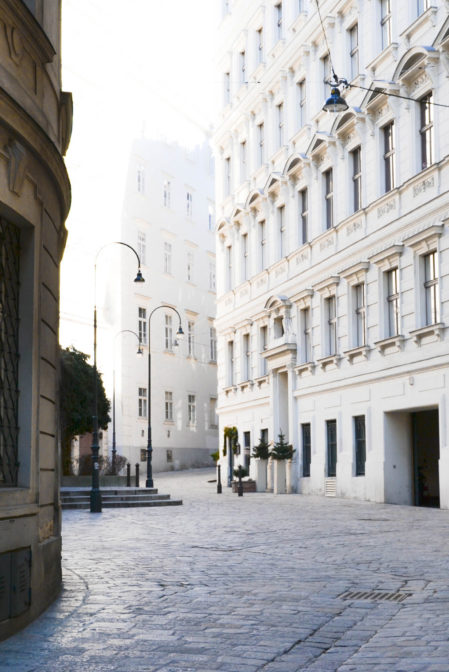 White facades of Viennese townhouses in the first quarter, Innere Stadt