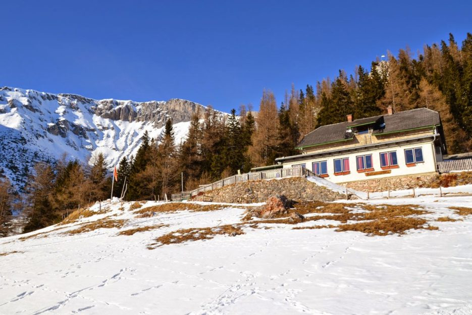 Waxriegelhaus, a mountain cottage at the foot of the Rax (Vienna's Local Mountains), located at 1,361 m above sea level