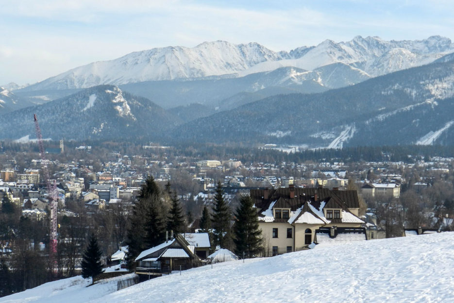 Zakopane, a ski resort in the Polish Tatra Mountains