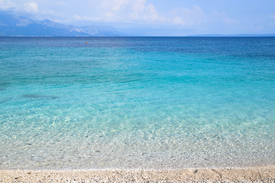 Zora Beach, Sumartin - one of the most beautiful beaches on the island of Brac, Croatia