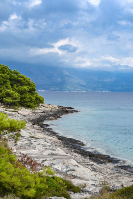 A sea shore on the island of Brač in Sumartin, Croatia