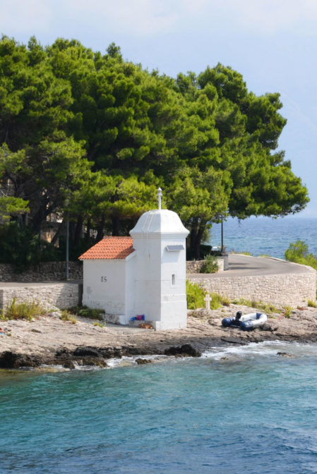 A small chapel by the sea, Sumartin, Brač island in Croatia