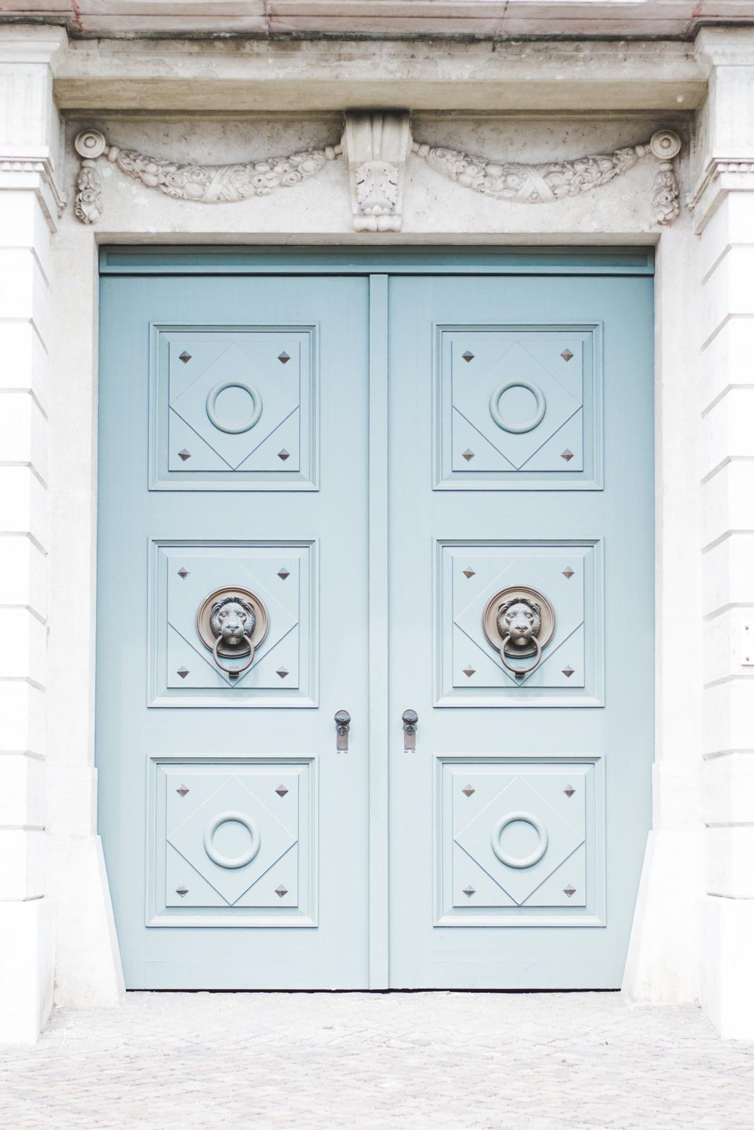 Budapest-castle-blue-doors