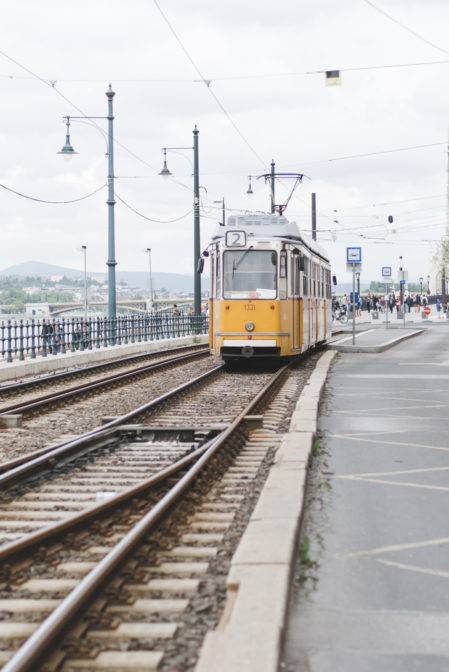 Yellow tram numer 2 in Budapest - 10 things to do in Budapest from travel blog: https://epepa.eu/