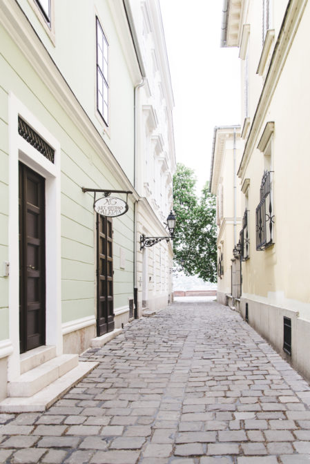 Narrow street in Buda, Budapest, Hungary - Epepa Travel Blog