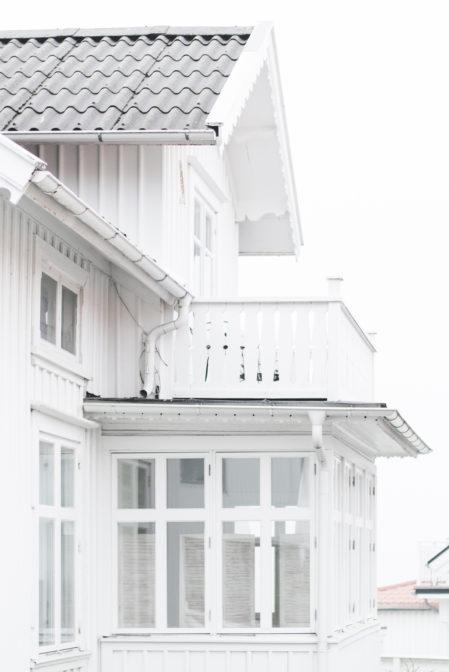 White Swedish house in Styrsö Tången, Styrsö Island