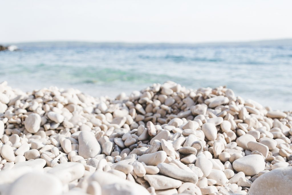 Beautiful shingle beach on Hvar - from travel blog http://Epepa.eu