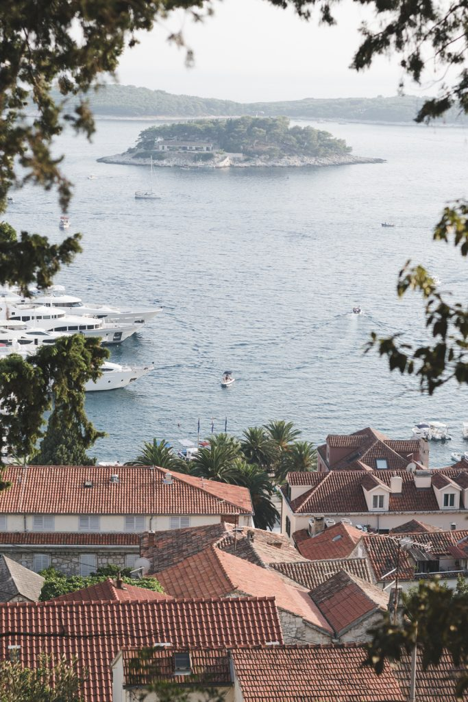 The Pakelni Islands seen from Hvar - from travel blog: http://Epepa.eu