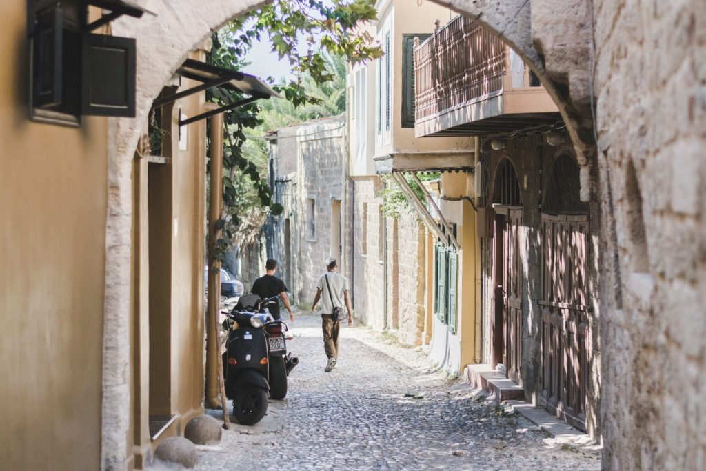 The streets of medieval town, Rhodes, Greece - from travel blog http://Epepa.eu