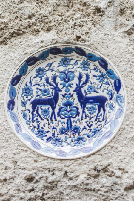 Ceramics from Rhodes in the medieval town, Greece - from travel blog https://epepa.eu/