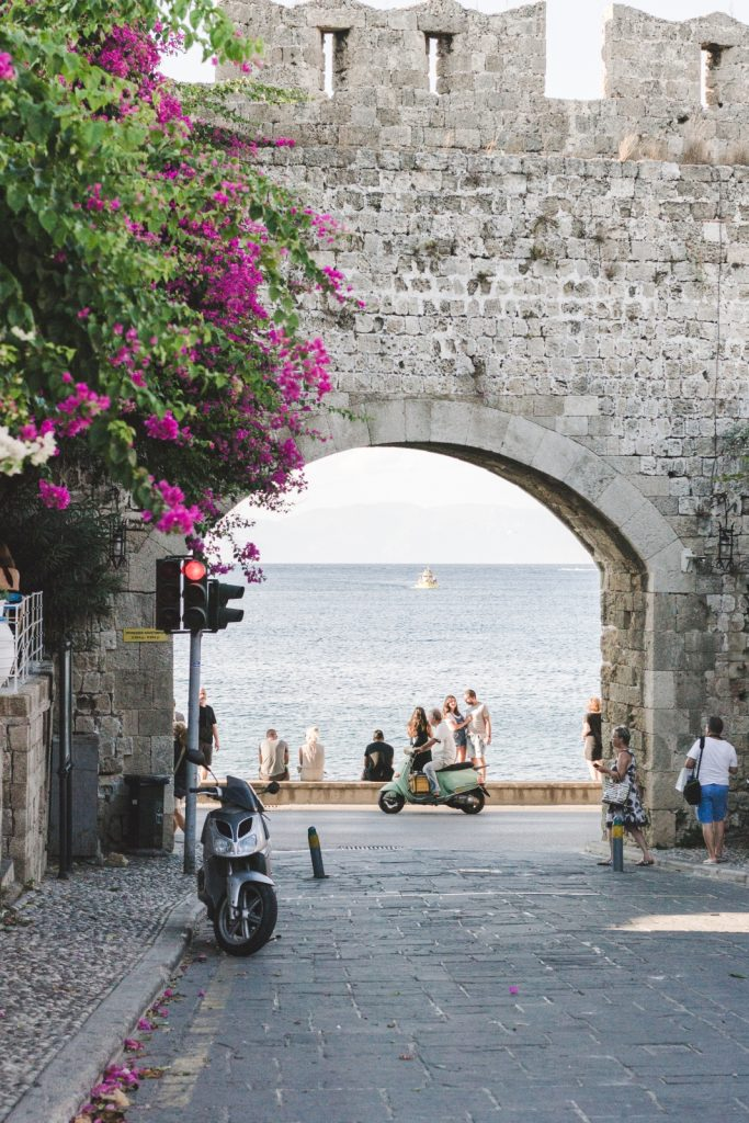 A view on the see from Rhodes Medieval City, the Gate of the Port - from travel blog http://Epepa.eu
