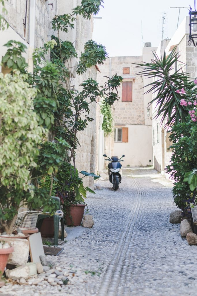 Rhodes Old Town street, Greece - from travel blog http://Epepa.eu