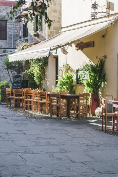 Restaurant in the Old Town, Rhodes, Greece - from travel blog https://epepa.eu/