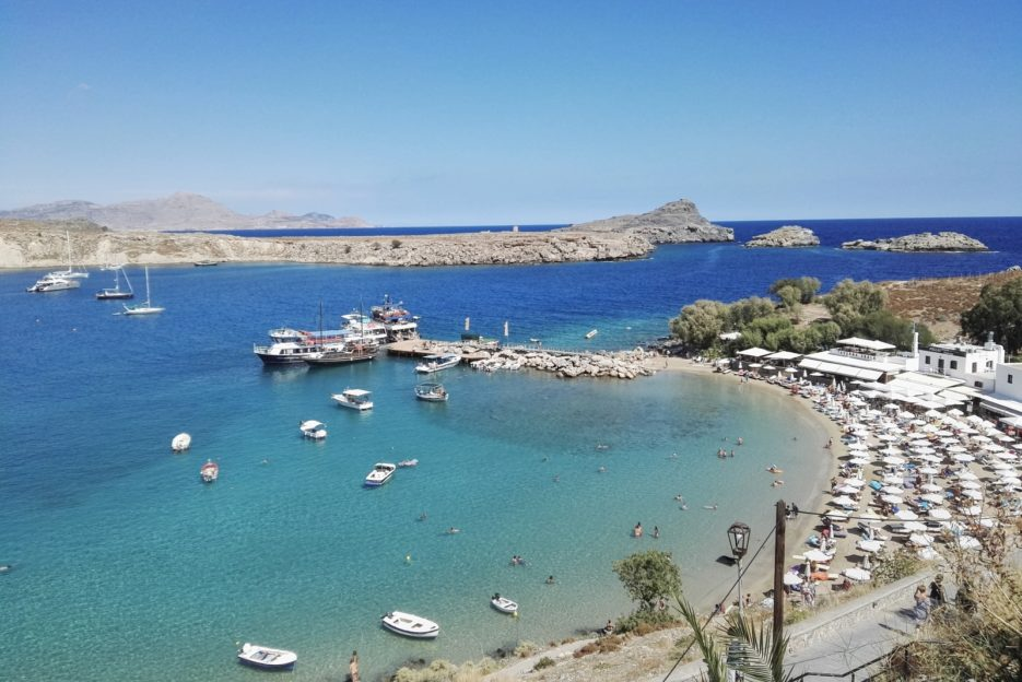 The Lindos Beach, Rhodes, Greece - from travel blog: https://epepa.eu/