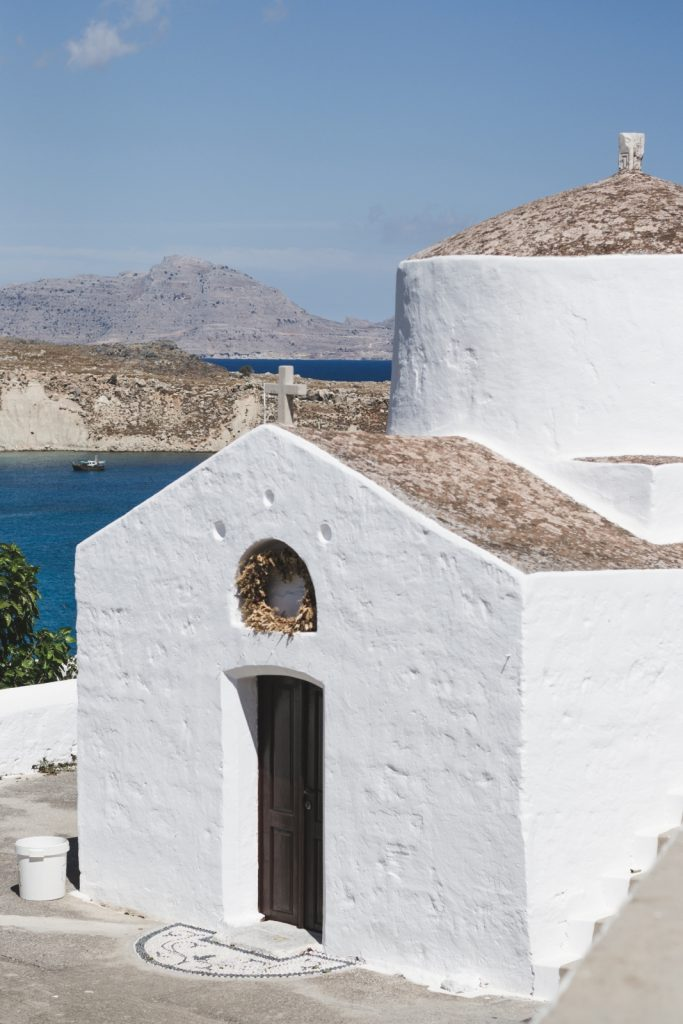 Beautiful whitewashed church in Lindos, Rhodes Island, Greece - from travel blog: http://Epepa.eu