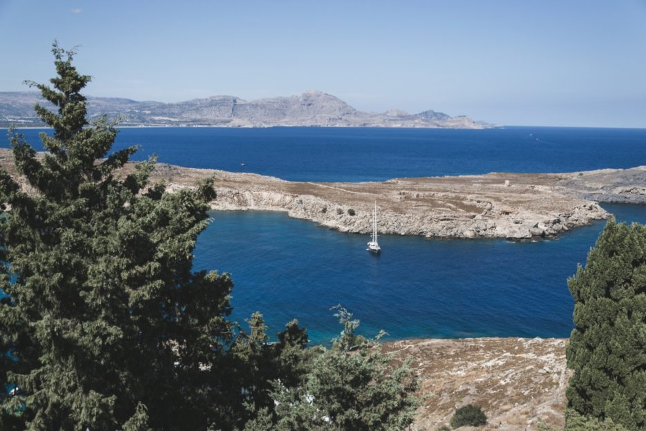 View of the Aegean Sea from Lindos, Greece - from travel blog: https://epepa.eu/