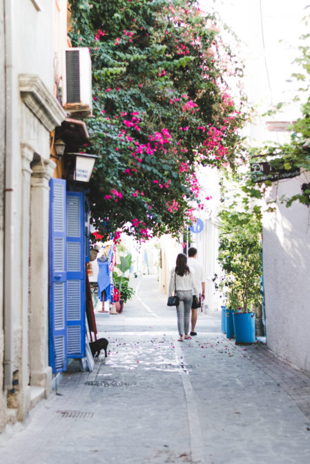Pedestrian streets in Rhodes New Town, Greece - from travel blog: https://epepa.eu/