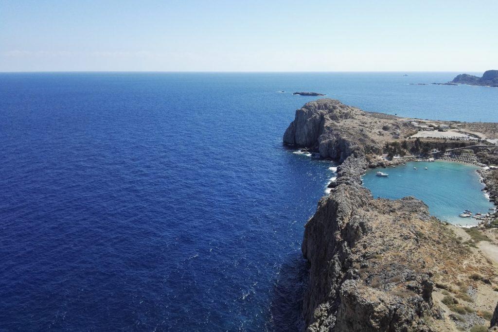 St. Paul's Bay, Lindos, Rhodes Island, Greece - from travel blog: http://Epepa.eu