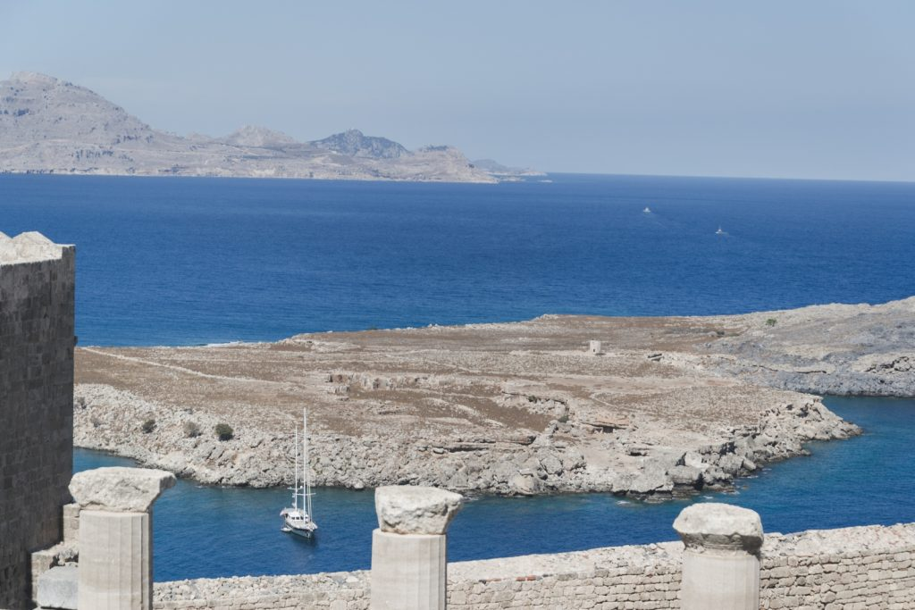 A view of the Aegean Sea from the Acropolis, Lindos, Greece - from travel blog: http://Epepa.eu