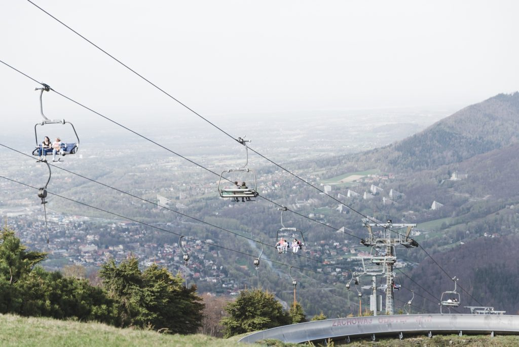 Cable car to Czantoria Mountain, Ustroń, Poland - from travel blog: http://Epepa.eu