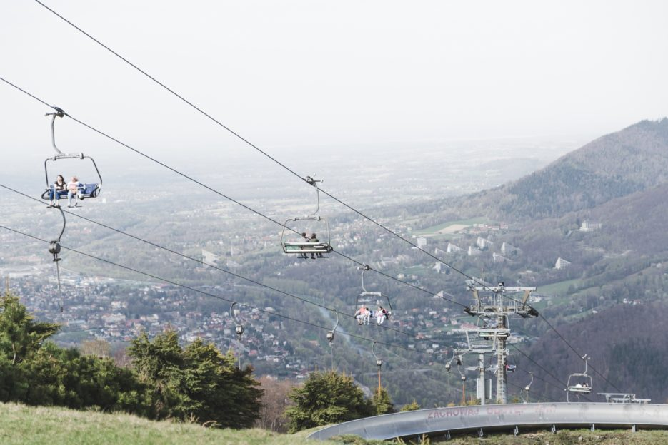 Cable car to Czantoria Mountain, Ustroń, Poland - from travel blog: https://epepa.eu/