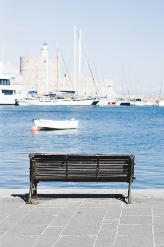 A view of Mandraki Harbour, Rhodes Town, Greece - from travel blog: http://Epepa.eu