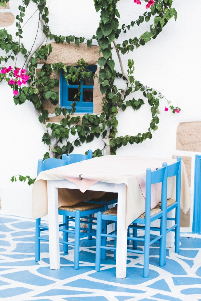 Beautiful Greek restaurant in Rhodes Town, Greece - from travel blog: http://Epepa.eu