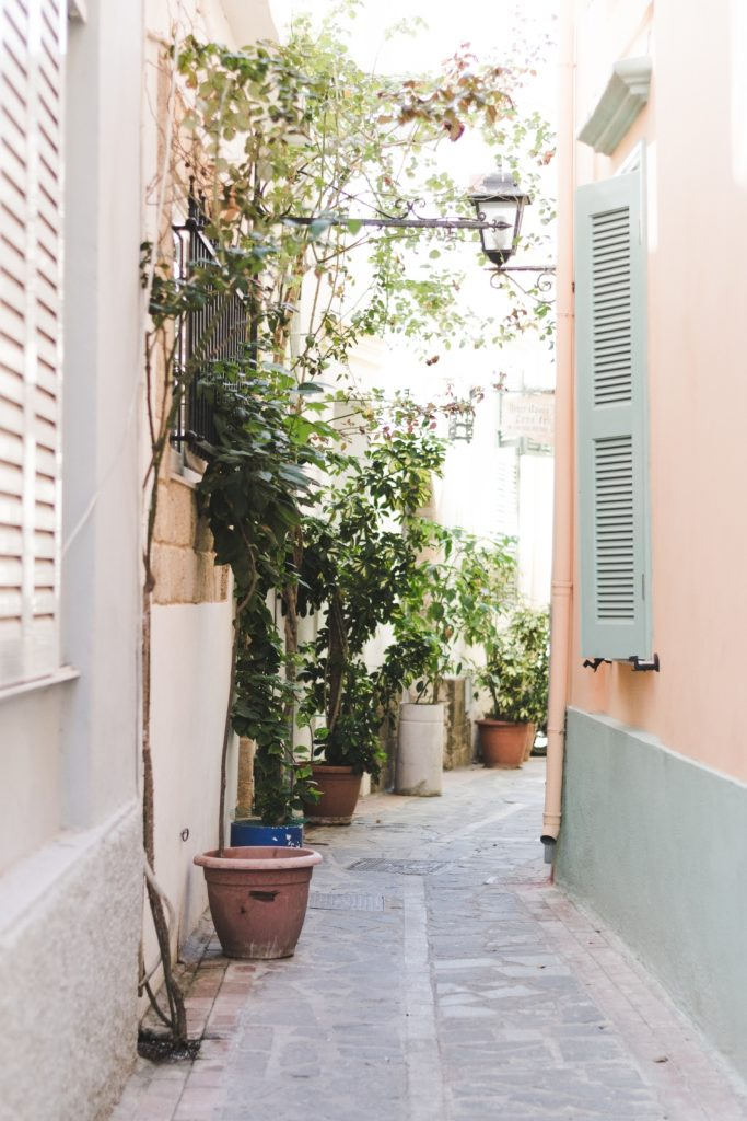 Charming alleyway in Rhodes New Town, Greece - from travel blog: http://Epepa.eu
