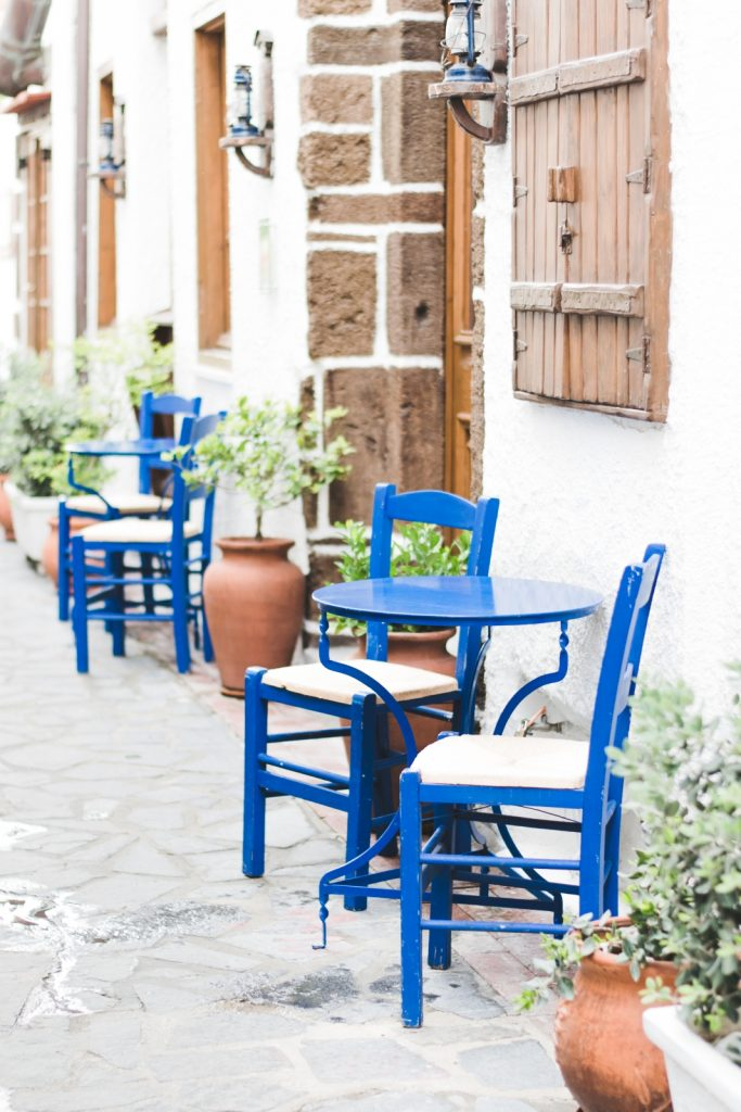 Charming Greek restaurant in Mandilara Street, Rhodes New Town, Greece - from travel blog: http://Epepa.eu