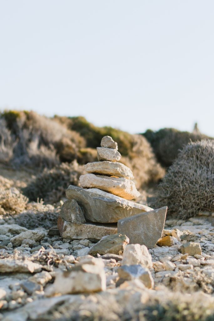 Stones on the island of Prasonisi, Rhodes, Greece - from travel blog: http://Epepa.eu