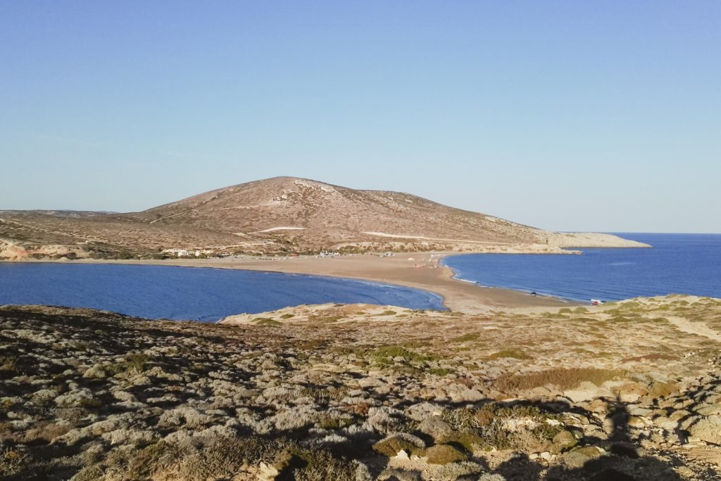 Prasonisi, Rhodes, a place where two seas meet - from travel blog: http://Epepa.eu