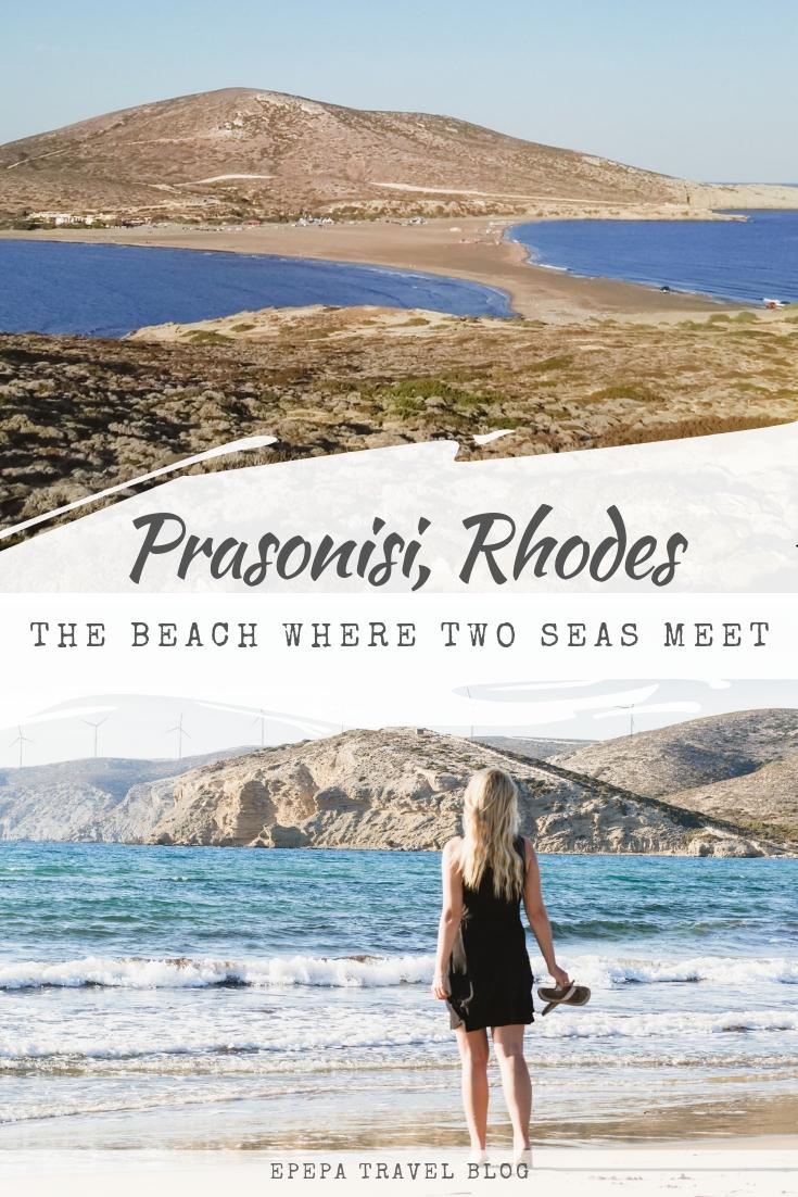 Prasonisi, Rhodes - the beach in Greece where two seas meet