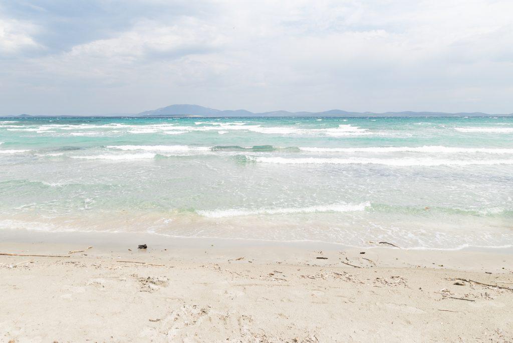 Sandy beach and a shallow sea in Croatia, Bok Beach, Susak - from travel blog: http://Epepa.eu