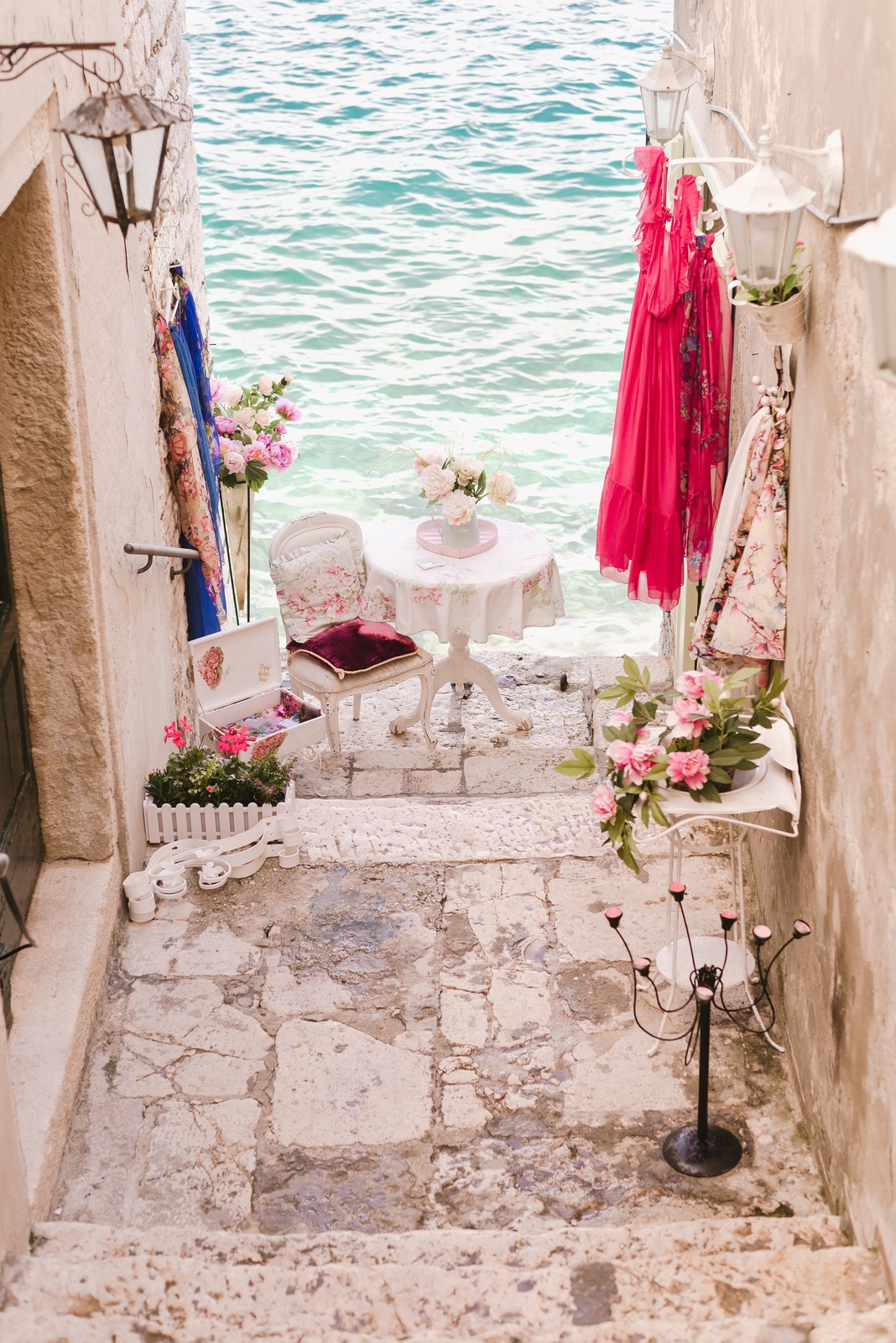 Charming alleyway in the Old Town of Rovinj, Istria - from travel blog http://Epepa.eu