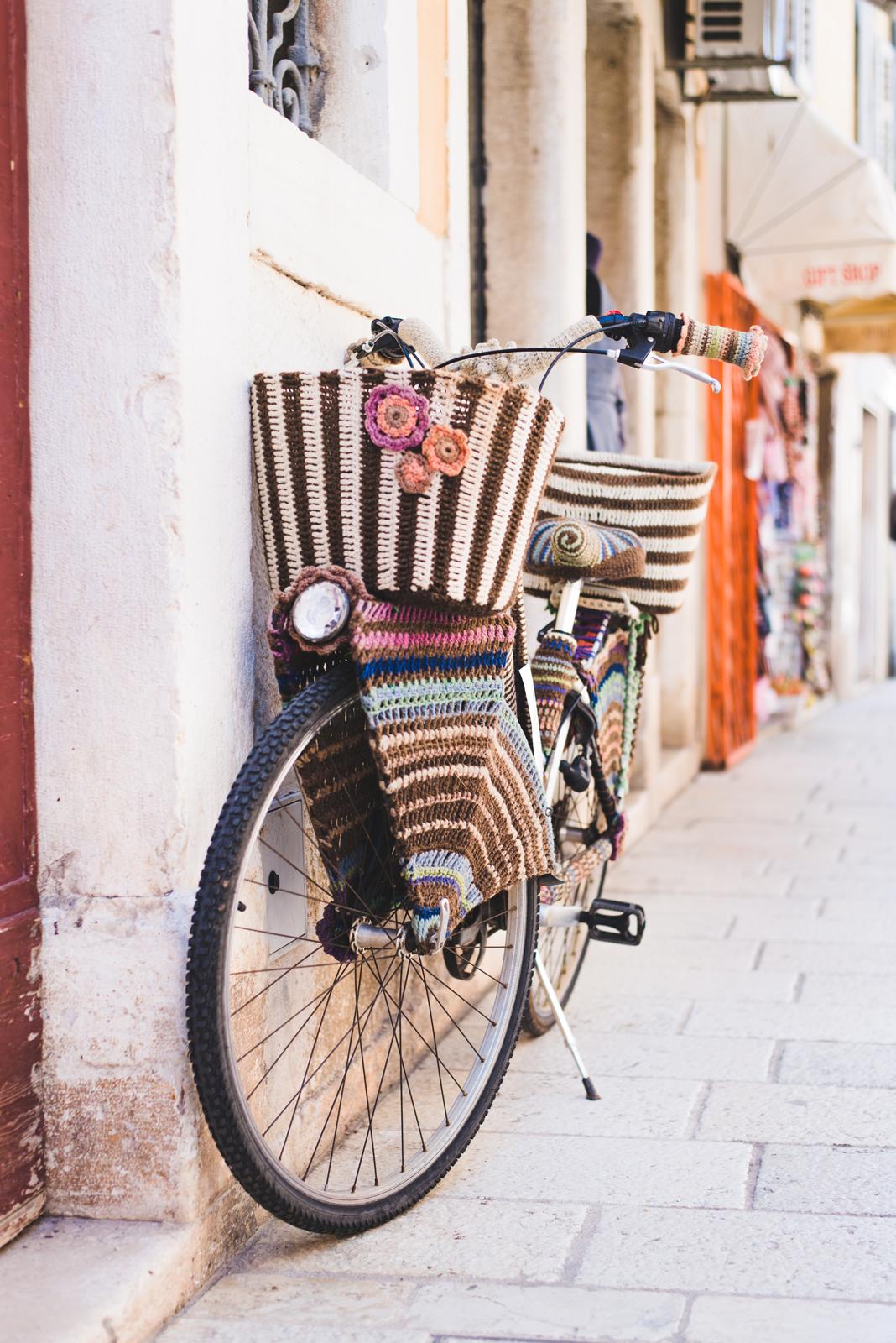 Artistic bike in Rovinj, Istria, Croatia - from travel blog http://Epepa.eu