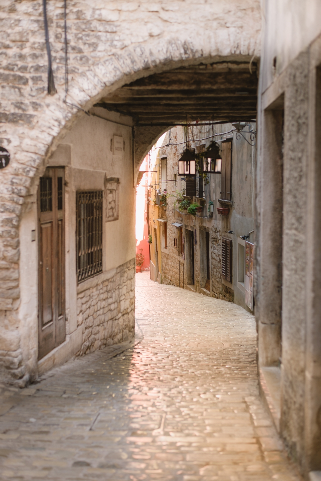 Rovinj, one of the most beautiful towns in Croatia. Ulica Pod Lukovima in the historical part of the city - from travel blog http://Epepa.eu
