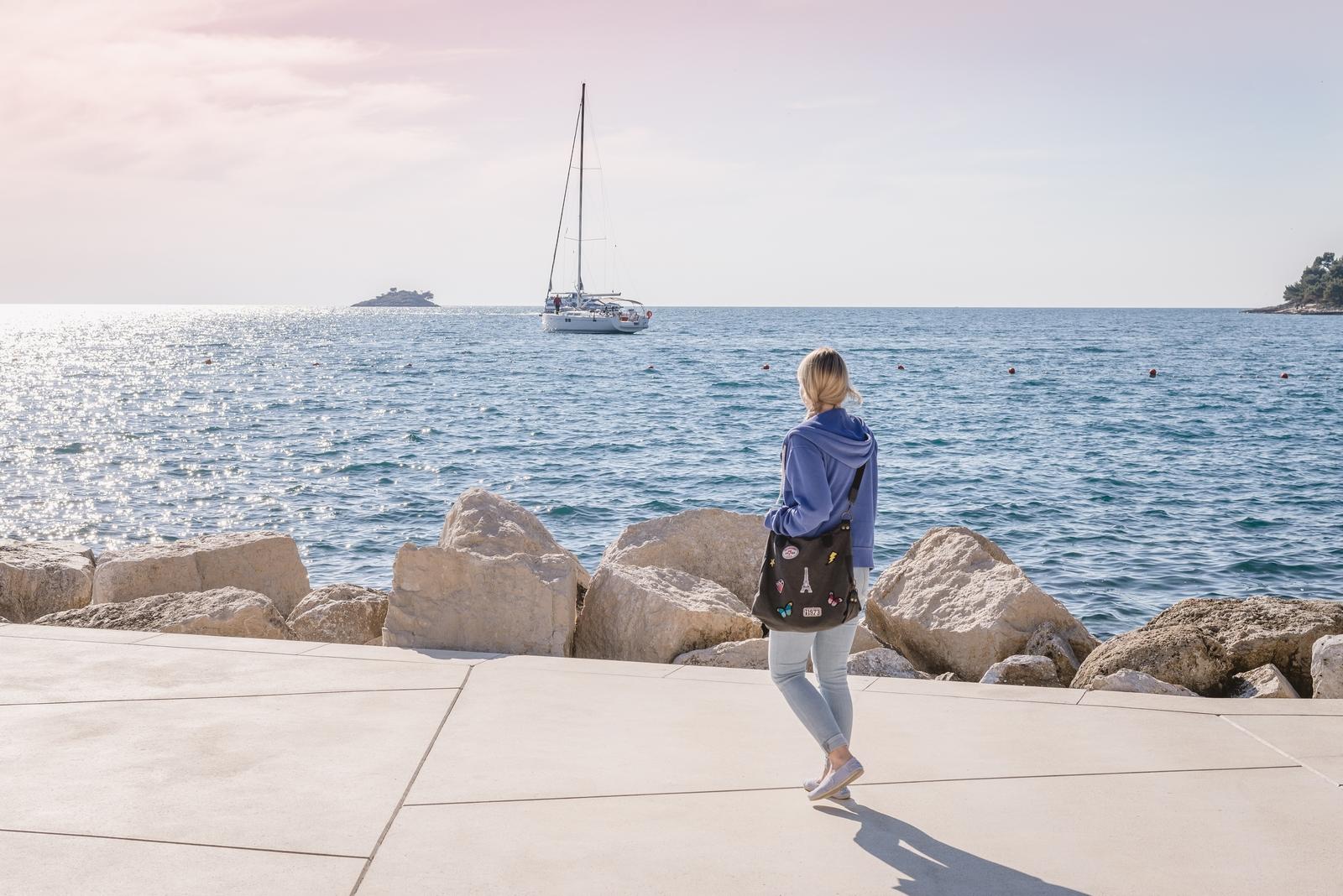 Seaside promenade in Rovinj on the Istrian peninsula, Croatia - from travel blog http://Epepa.eu