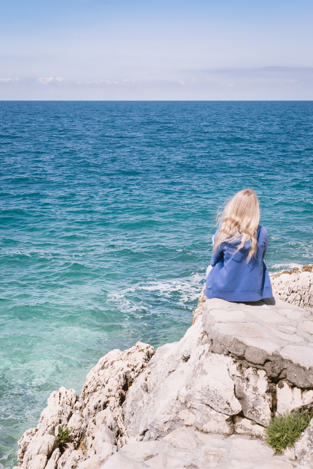 Adriatic sea seen from the old town of Rovinj, Istria - from travel blog http://Epepa.eu