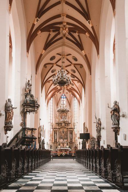 The interior of the Church of All Saints (Kościół pw. Wszystkich Świętych), Gliwice, Poland