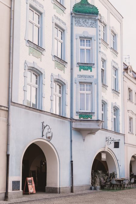 The historic tenment house in Gliwice, Poland