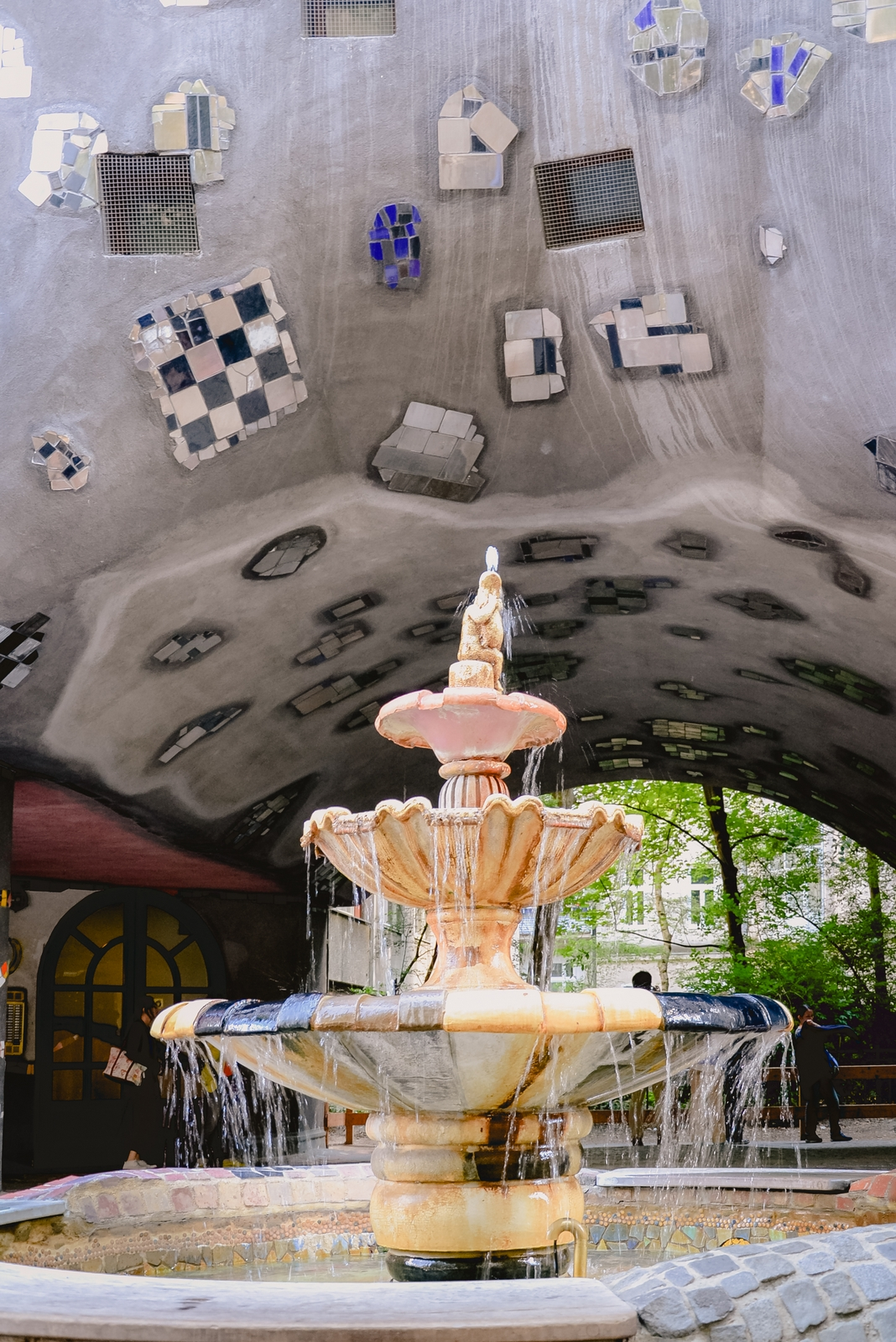A fountain in front of the Hundertwasserhaus, one of the top 10 strangest buildings in Vienna - from travel blog: http:/Epepa.eu