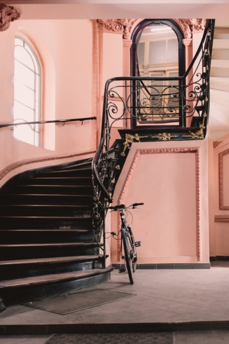 A beautiful staircase in one of the tenement houses in Gliwice, Poland