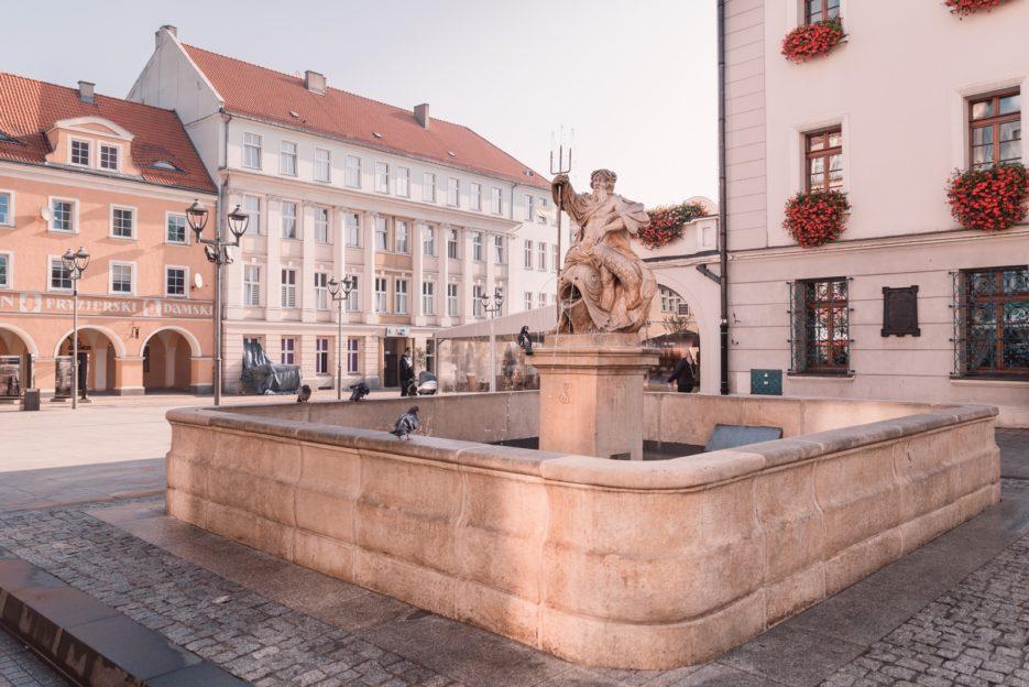 The Neptune Fountain (Fontanna Neptuna) by Johannes Nitsche (1794), Rynek Gliwice, Poland