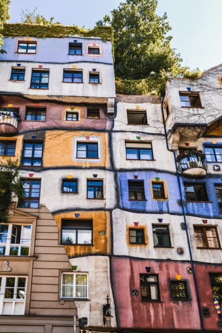 Hundertwasserhaus, the most surprising building in Vienna, Austria