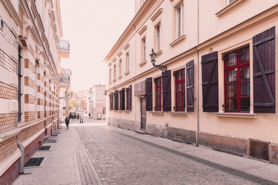 Średnia Street (Ulica Średnia) in Gliwice, Poland