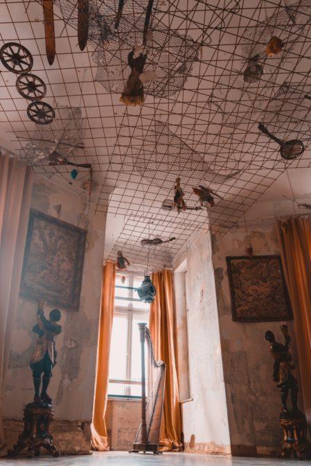 The bizarre constructions under the ceiling, Amfilada Bagatela, Warszawa