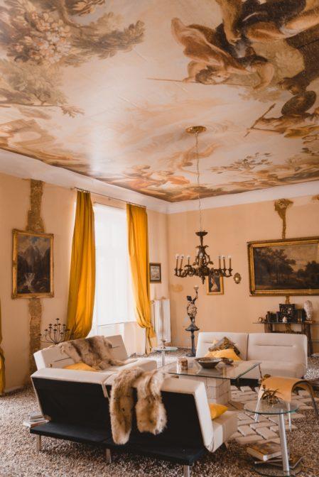 The unusual interior design in Warsaw, Poland