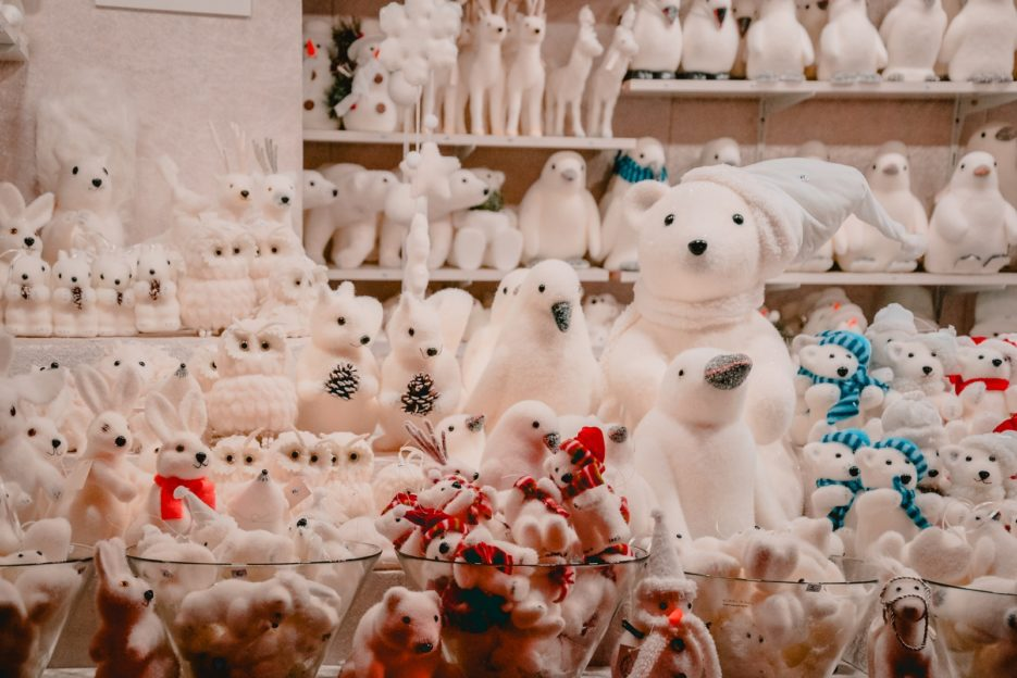 The cute toys at the Vienna City Hall Christmas Market (Wiener Christkindlmarkt am Rathausplatz), Austria